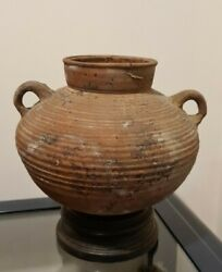 Very Rare Large Ancient Roman Two Handled Cooking Pot Vessel 2nd/3rd C Ad Intact