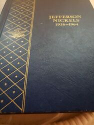 Jefferson Nickels In Book With Some Silver Nickels 1938-1964
