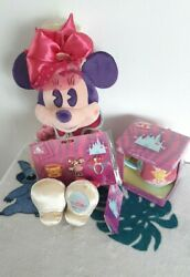 💜 Disney Minnie Mouse Main Attraction March Mad Hatter Bundle Plush, Pins, Mug
