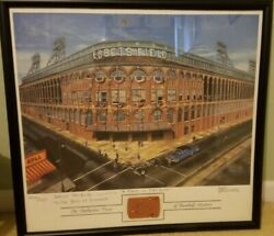 Ebbets Field Picture With Stadium Brick Bill Levers Brooklyn Dodgers