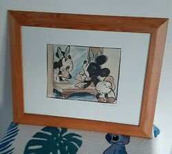 ❤💄framed Disney Print Of And039mickeys Surprise Partyand039 1939 Vintage Minnie Mouse.