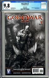 God Of War 1 Cgc 9.8 Wp 3858809020 1st Kratos 2nd Print Black And White Cover