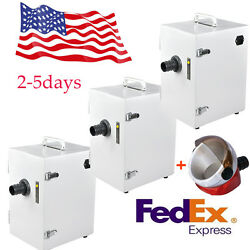 3x Dental Digital Dust Collector Single-row Vacuum Cleaner For Laboratory Usa Ce