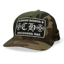 Chrome Hearts Size One Size Trucker Cap / Tracker Cup Ch Patch Cross Bal