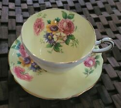 Paragon Double Warrant 1940s Floral Tea Cup And Saucer Htf Cute Take A Look