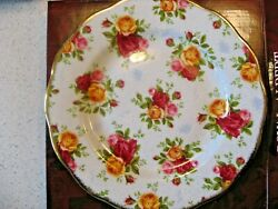 Royal Albert Old Country Roses Blue Damask Salad Plate In Box 8d Limited Ed