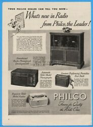 1945 Philco Radio Phonograph Ad Table Portable Automatic Record Changers Console