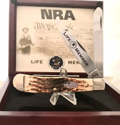 Case Xx 6254 Nra Life Member Knife, 2005, Near Mint With Box And Pin
