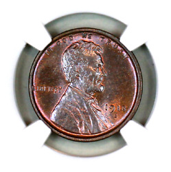 1918-s Ms64 Bn Ngc Lincoln Wheat Penny Superb Registry Quality Collection