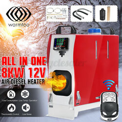 All In 1 12v 8kw Air Diesel Heater Car Parking Truck Boat Lcd Switch Remot