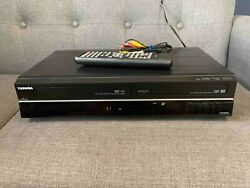 Toshiba Dvr620 Dvd Recorder Vcr Combo With Remote And Cables Tested Works
