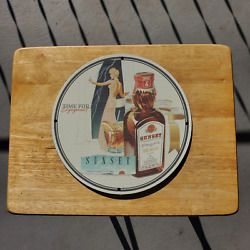 Vintage 1945 Sunset Cordials Rock And Rye Porcelain Gas And Oil Sign