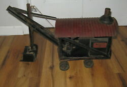 Antique Buddy L Steam Shovel Pressed Steel 1920and039s Vintage Construction Toy Rare