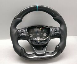 2019 Ford Transit Custom Mk8 Steering Wheel Flat New Carbon + Leather Turquoise