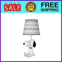Snoopy Lamp With Shade And Bulb - White/black/gray