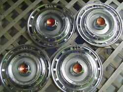 Vintage 1966 66 Dodge Chrysler Plymouth 15 In. Hubcaps Wheel Covers Center Caps