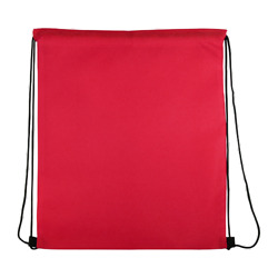 Lot of 100 Pieces Non Woven Drawsting Cinch Backpack Bags 16.5″ X 13″ – Red $80.00