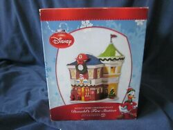 New Dept.56 Disney Village Donald's Fire Station-mickey's Merry Christmas