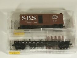 Micro-trains N Scale Lot Of 2 Freight Cars Spands, 1 New, 1 Used