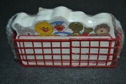 Vintage Suzyand039s Zoo Desk Top Memos 175 Sheets In Red Wire Basket By Current Inc