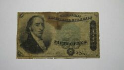 1863 .50 4th Issue Fractional Currency Note Bank Stamp Act Civil War Fourth