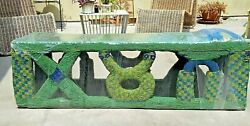 African Beaded Very Rare Cameroon Bamileke Antique Bed/bench 1500 Free Ship
