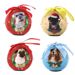 3 Dog Collection Light Up Hanging Christmas Ball Ornaments Baubles Tree Decor