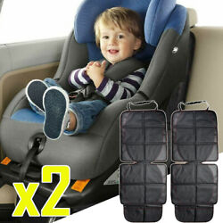 2x Car Seat Protector Storage Pockets Cover For Baby Infant Toddler Kick Mat Bag