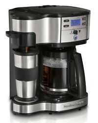 Hamilton Beach 2-way Brewer 49980a Single Serve Coffee Maker And Full 12 Cup Co