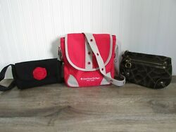 American Girl Place New York Crossbody Girls Purse Red Plus 2 Clutches $12.99