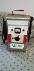 Vintage Mobil Oil Gas Pump Station Portable Battery Charger Old Hd Works