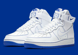 Nike Air Force 1 High And03907 Shoes White Racer Blue Cv1753-101 Menand039s New