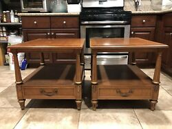 Pair Of Henredon Nightstands Bed Side Tables A Mazor Masterpiece