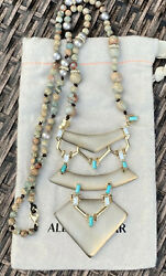 100 Alexis Bittar Stone, Pearl, Crystal Beaded Lucite Statement Necklace 295