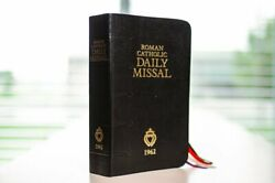 1962 Roman Catholic Daily Missal For The Traditional Latin Mass Black Best Price