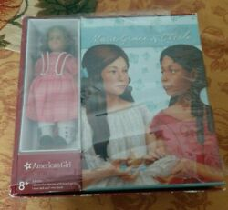 American Girl Book Set - Marie Grace And Cecile With Mini Marie-grace Doll - New