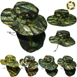 Bucket Boonie Hat Neck Flap Sun Wide Brim Military Fishing Hunting Outdoor Cap $9.99