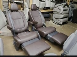 2021 Toyota Sienna Recliner Seats 2nd Row Buckets Seat Brown Leather