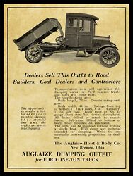 1921 Auglaize Hoist And Body Of New Bremen, Ohio New Metal Sign 12x16 Large Size