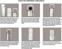 7.5 Ft Line Set Cover Kit 3 For Mini Split And Central Air Conditioner And Heat