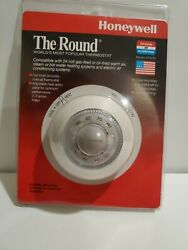 New Vintage Honeywell Heating/cond Thermostat The Round Ct87b Made In Usa 1994