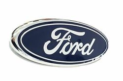 2005-2007 Ford F250 F350 Super Duty Front Grille Blue Ford 9 Inch Emblem New