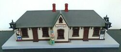 Mth Model Railroad Electric Main Street Train Station Depot O Scale Building