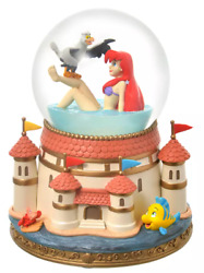 Disney The Little Mermaid Ariel And Scuttle Snow Globe Story Collection Japan New