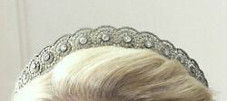 Uncut Real Antique Rose Cut Diamond 13.68ct Wedding Party Amazing Tiara And Crown