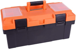 Tool Box 18 Inches Portable Tool Box Plastic Toolbox With Removable Tool Tray