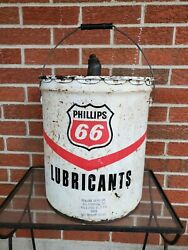 Phillips 66 Lubricants 5 Gallon Oil Can Very Good Condition