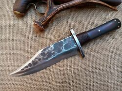 Forged Coffin Bowie Confederate Civil War Fight Knife Cowboy Montain Man Edc
