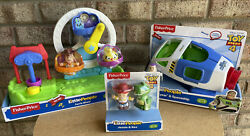 Toy Story Fisher Price Little People Buzz Lightyear Spaceship Woody Ferris Wheel