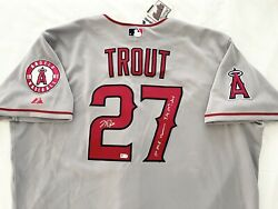 Angels Michael Mike Nelson Trout Signed Inscribed Jersey Road Mlb Authenticated